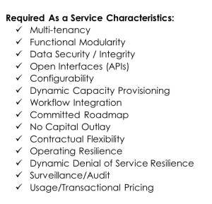 As A Service Requirements